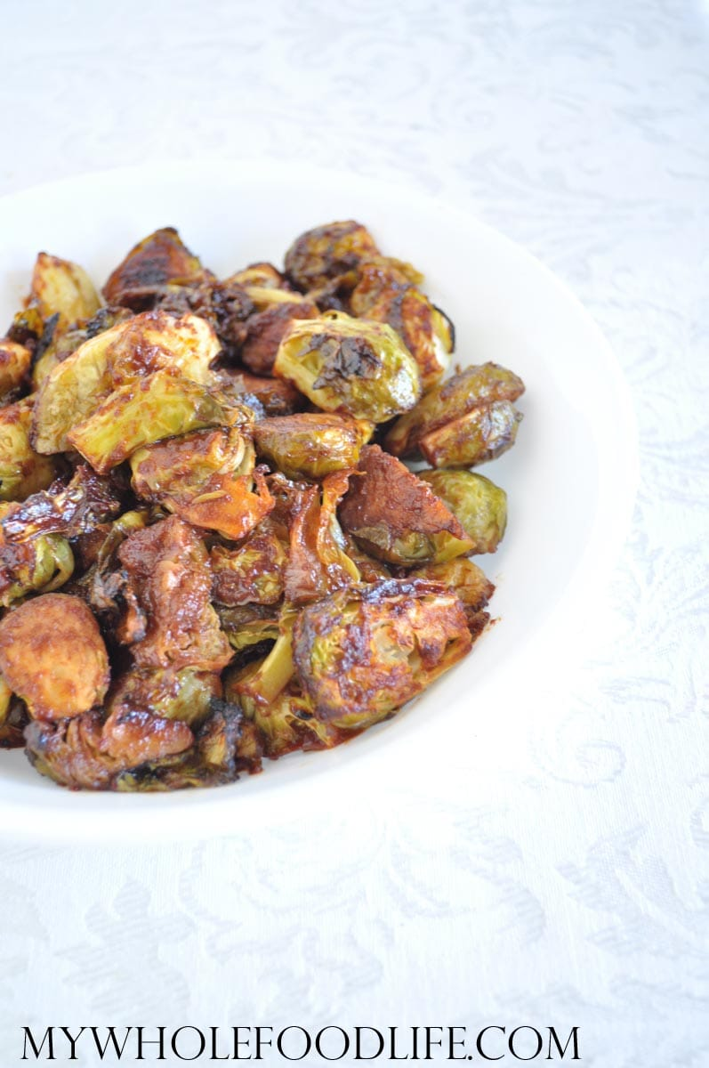 Tomato Roasted Brussel Sprouts - My Whole Food Life