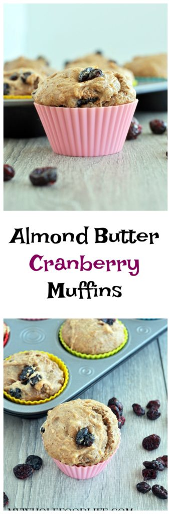 Almond Butter Cranberry Muffins