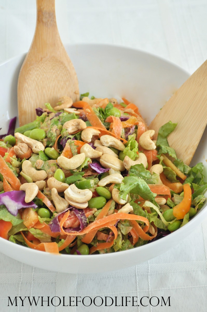 Asian Chopped Salad with Cashews - My Whole Food Life