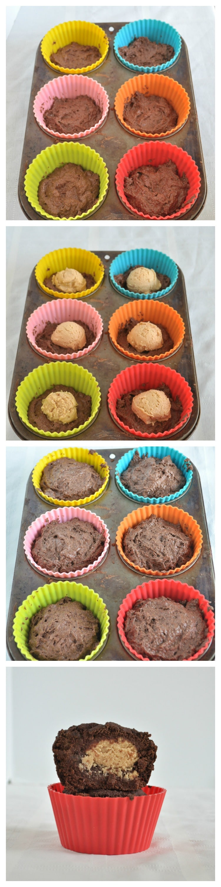 Peanut Butter Cup Muffins Steps