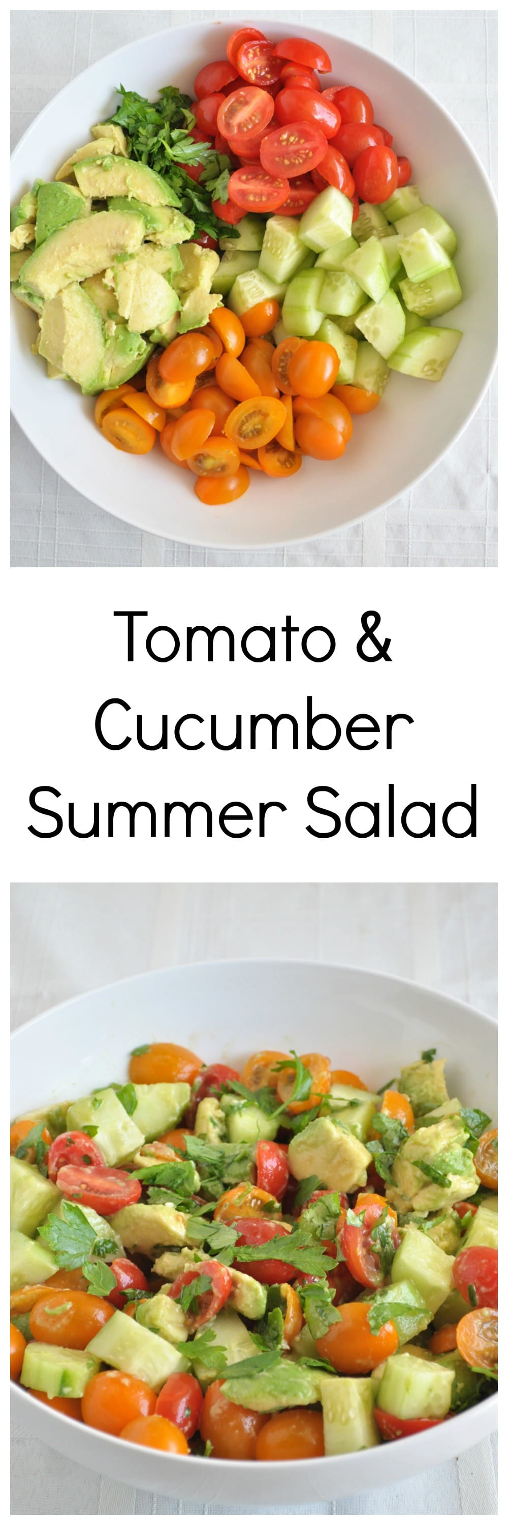 Easy Tomato Summer Salad Collage