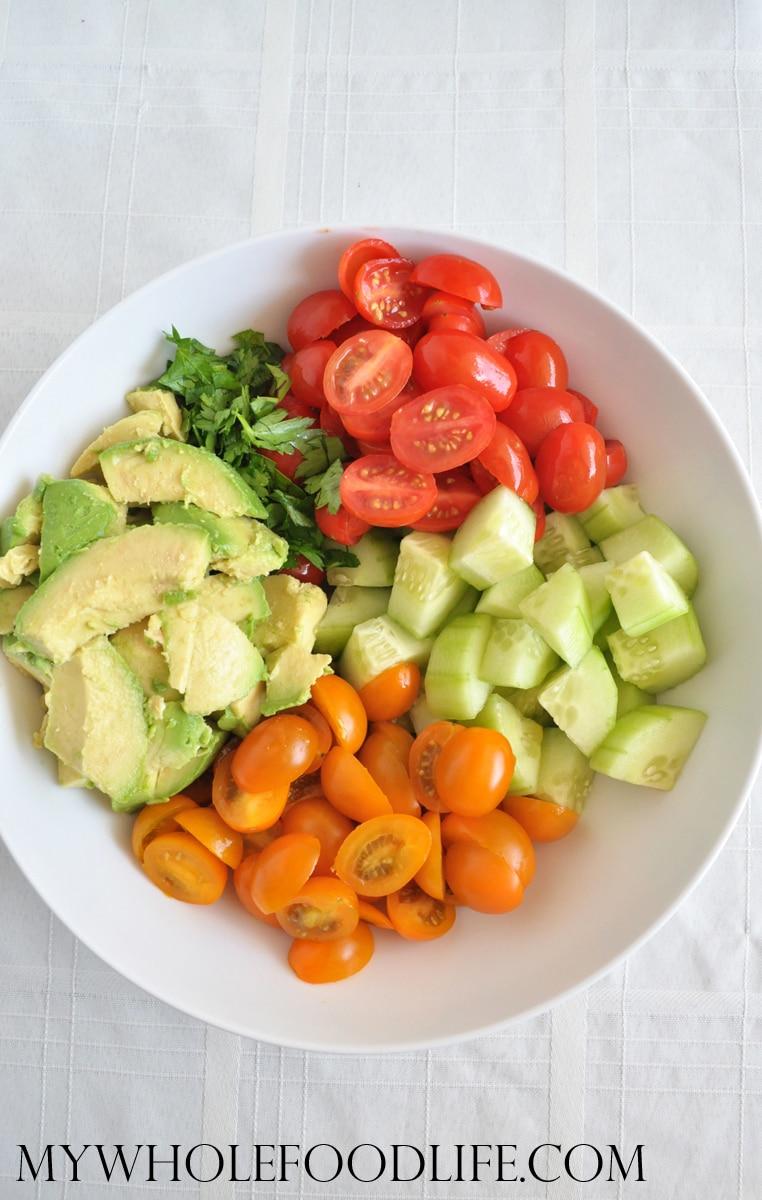 Easy Tomato Summer Salad - My Whole Food Life