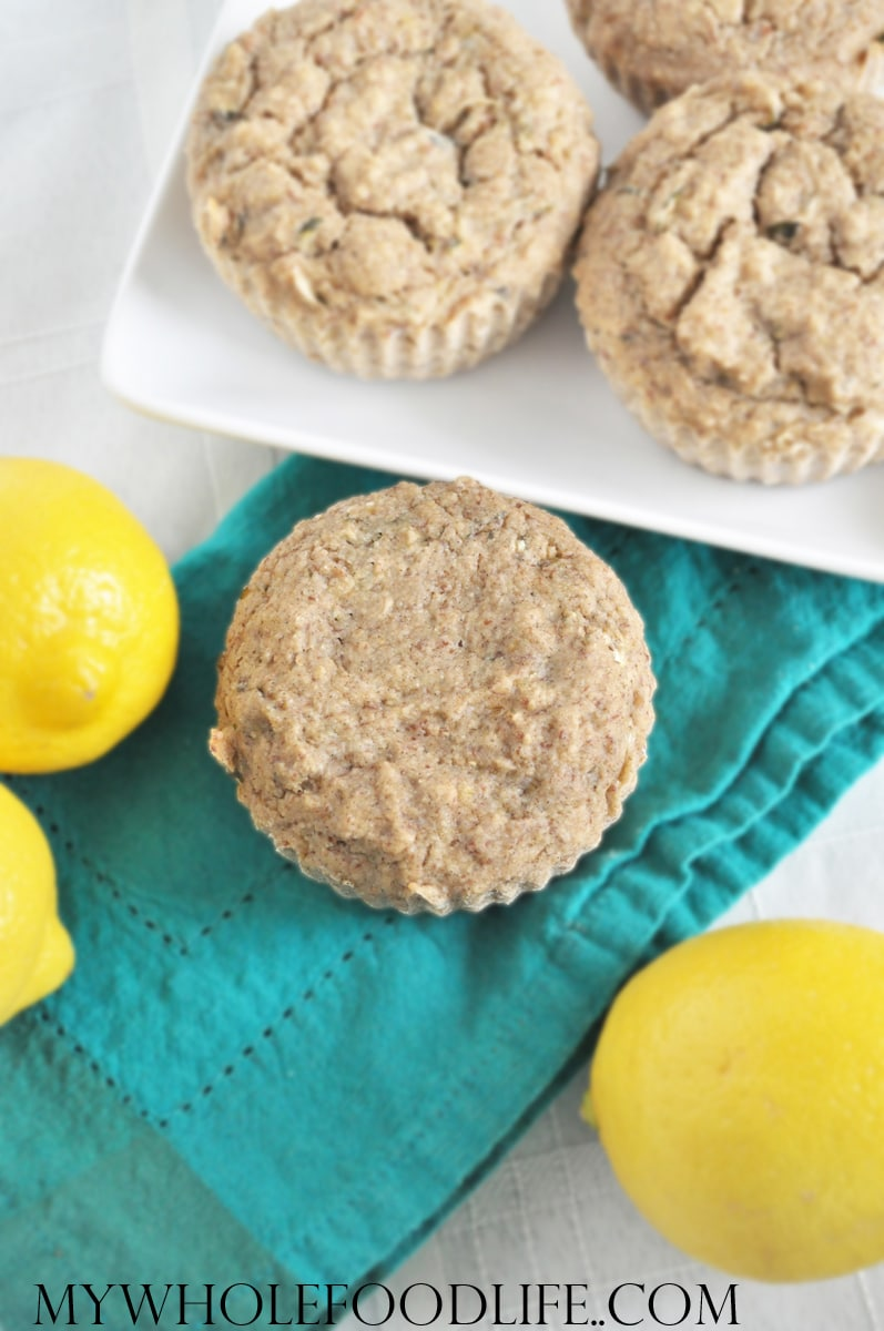 Lemon Zucchini Muffins - My Whole Food Life