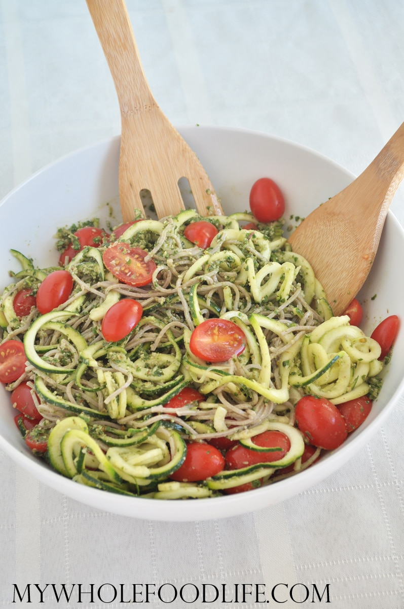 Soba and Zucchini Noodle Bowl - My Whole Food Life