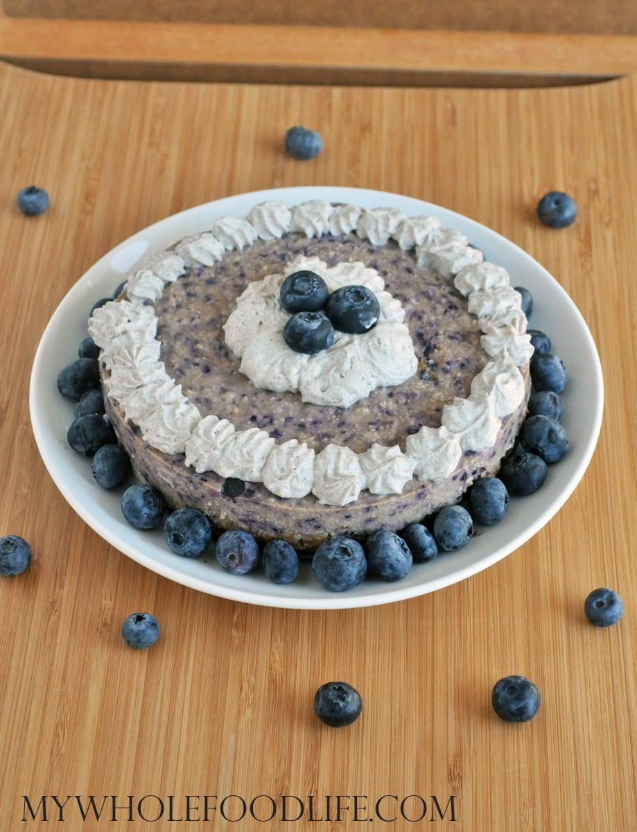 Vegan Blueberry Cheesecake - My Whole Food Life