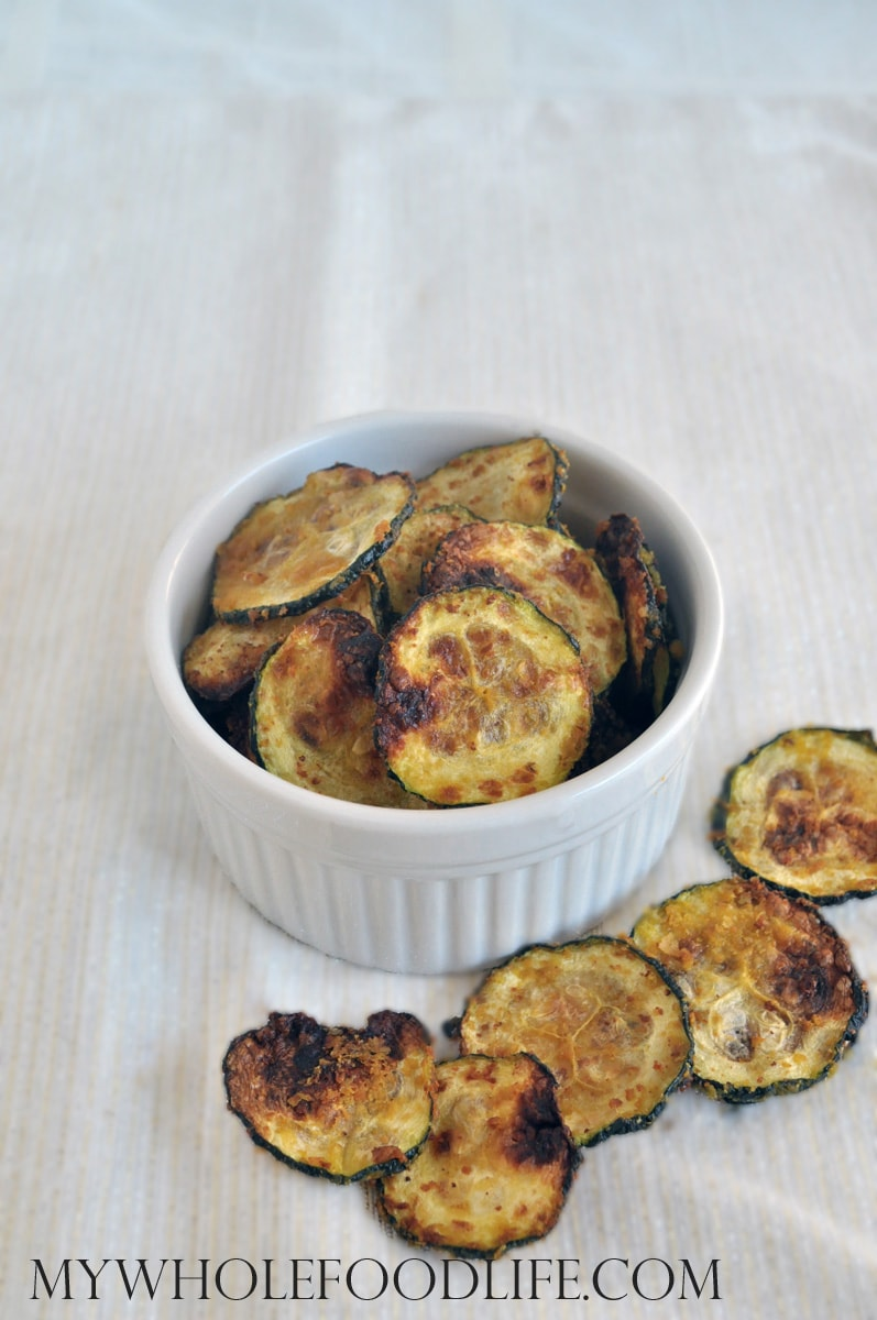 Cheesy Zucchini Chips - My Whole Food Life