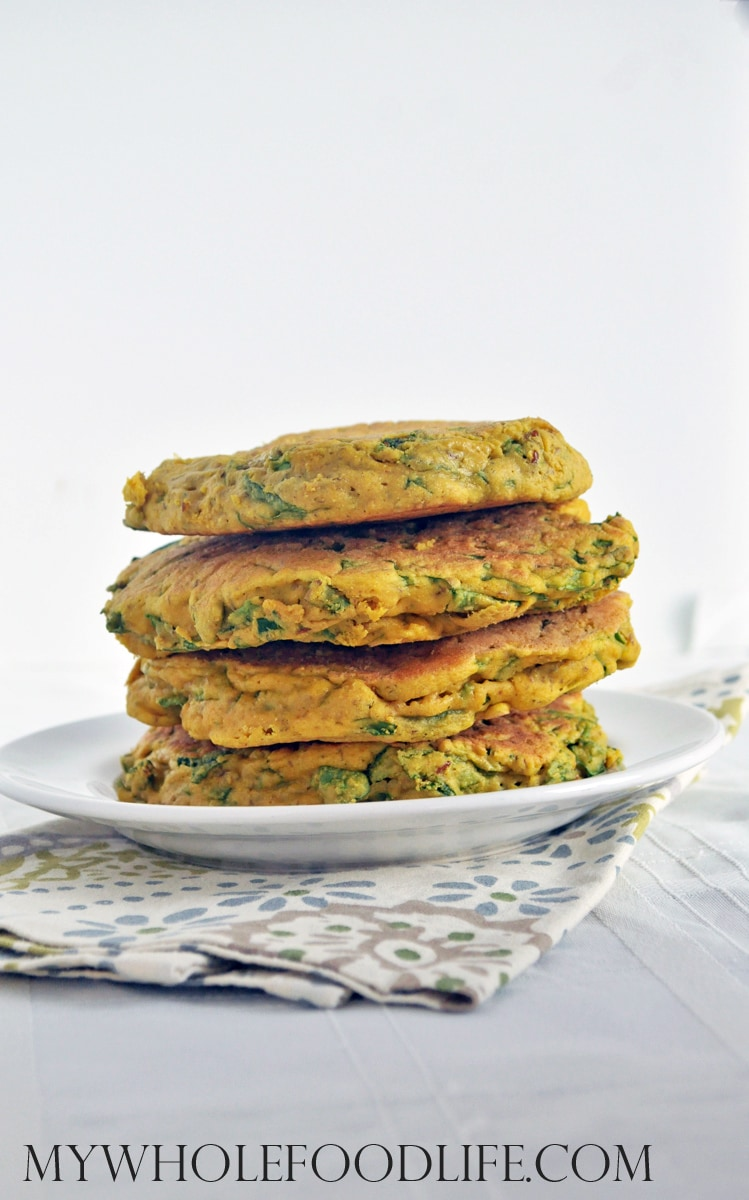 Spinach Chickpea Omelets - My Whole Food Life