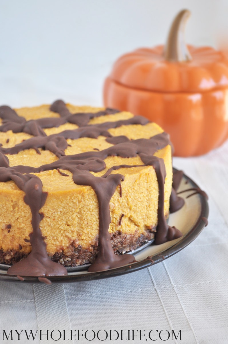 Chocolate Pumpkin Cheesecake - My Whole Food Life