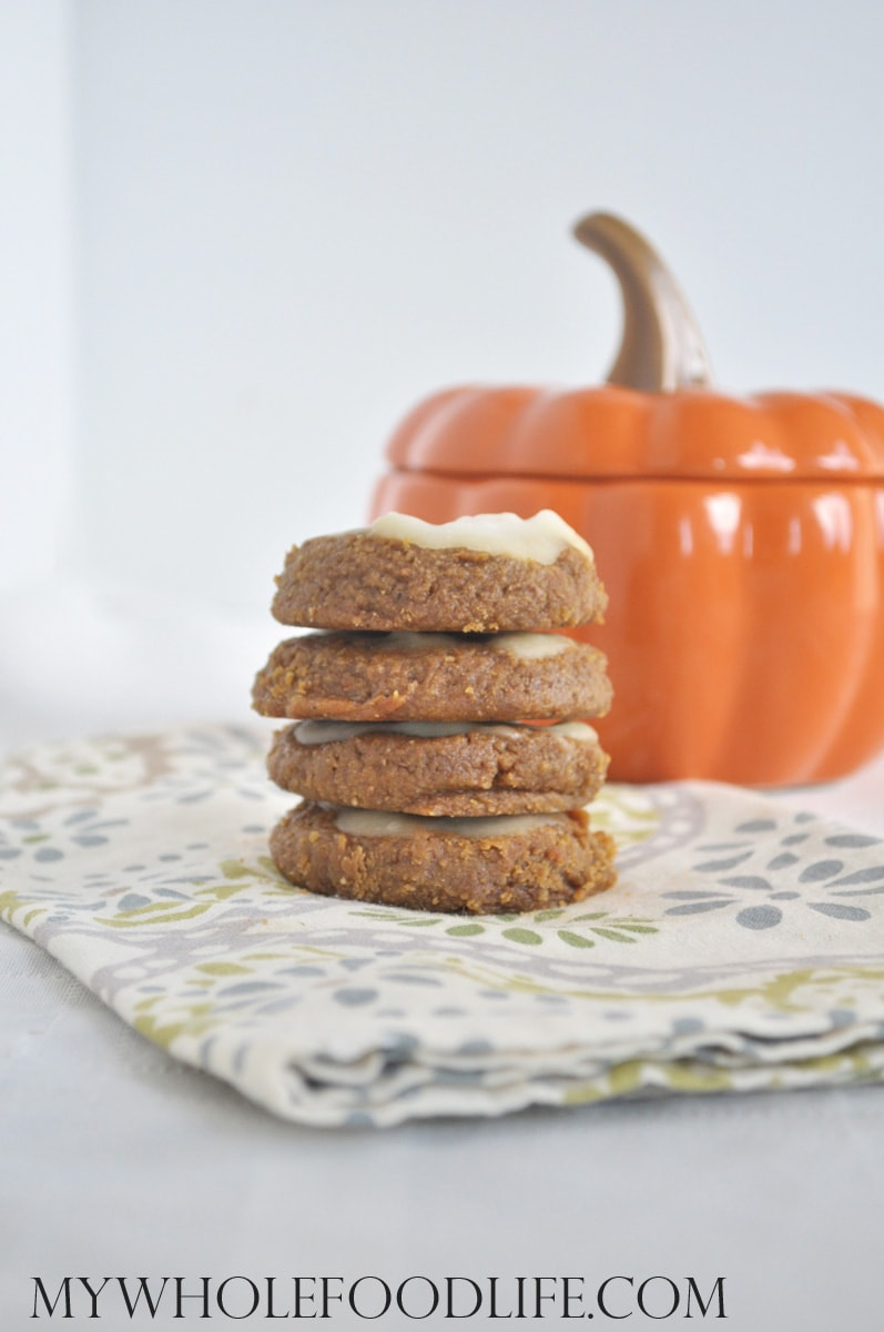 Iced Pumpkin Cookies - My Whole Food Life