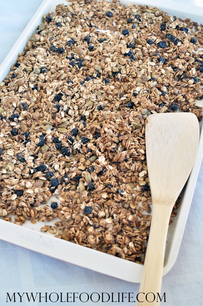 Blueberry Flax Granola - My Whole Food Life
