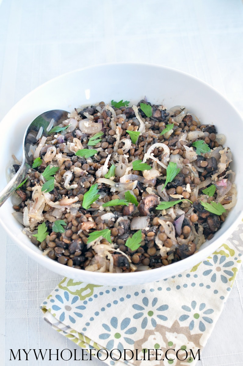 Green Lentils and Mushrooms - My Whole Food Life