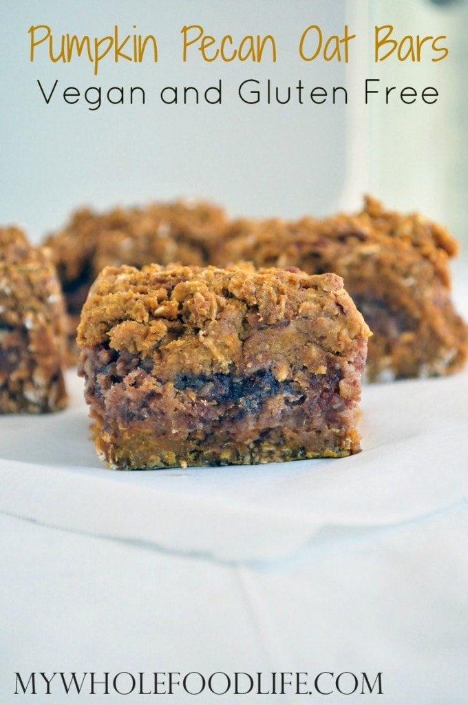 Pumpkin Pecan Date Bars - My Whole Food Life P