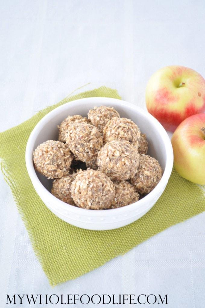 Apple Almond Energy Bites - My Whole Food Life