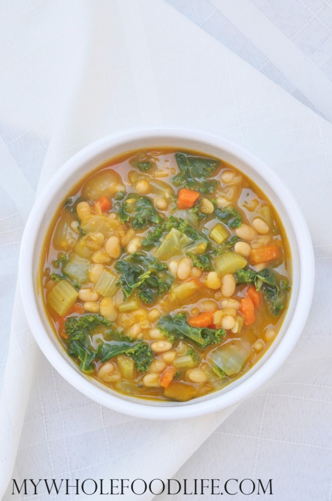 Kale White Bean Squash Soup - My Whole Food Life