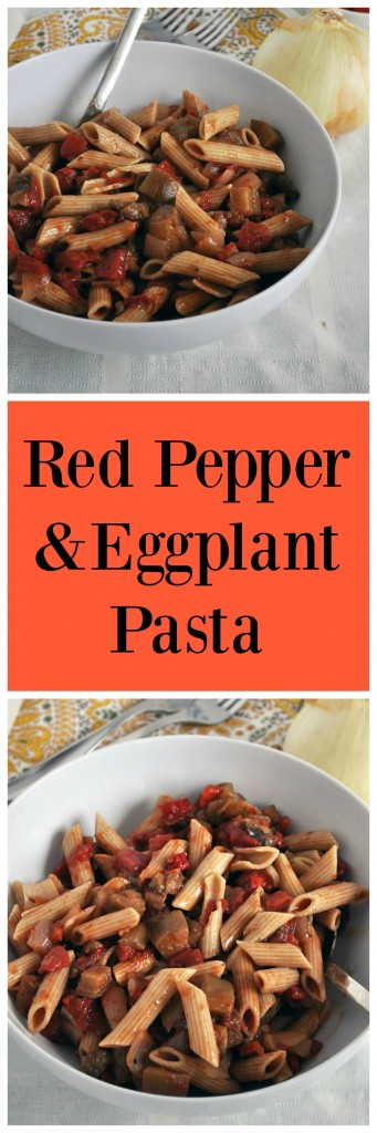Roasted Pepper Eggplant Pasta P