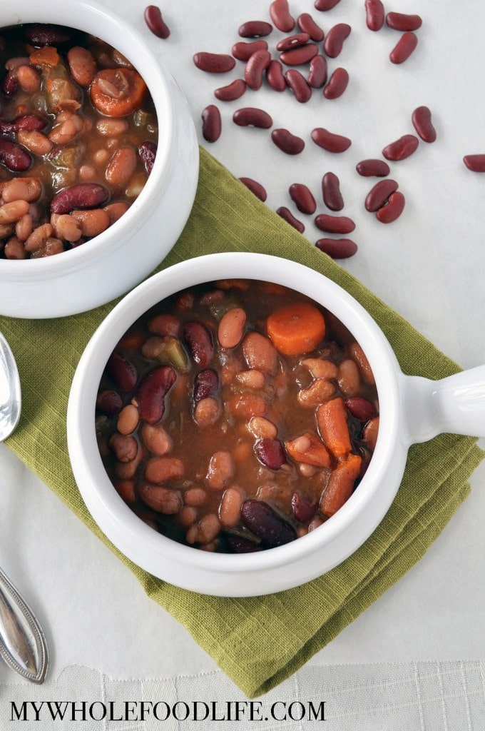 3 Bean Vegetable Soup - My Whole Food Life