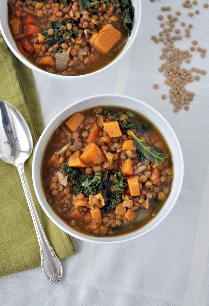 Lentil, Sweet Potato Kale Soup