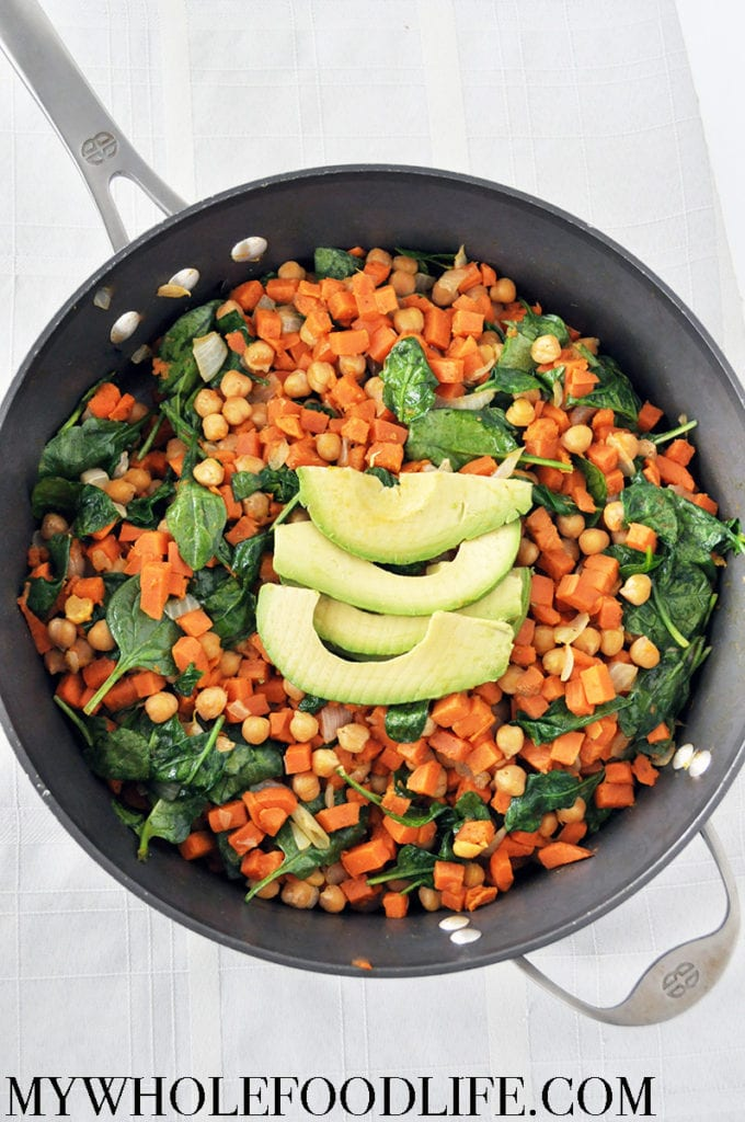 sweet potato chickpea stir fry