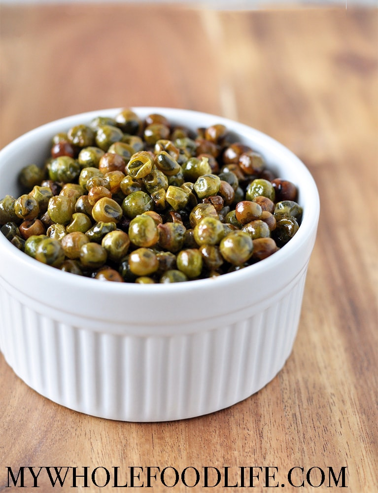 garlic roasted peas