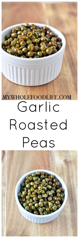garlic roasted peas