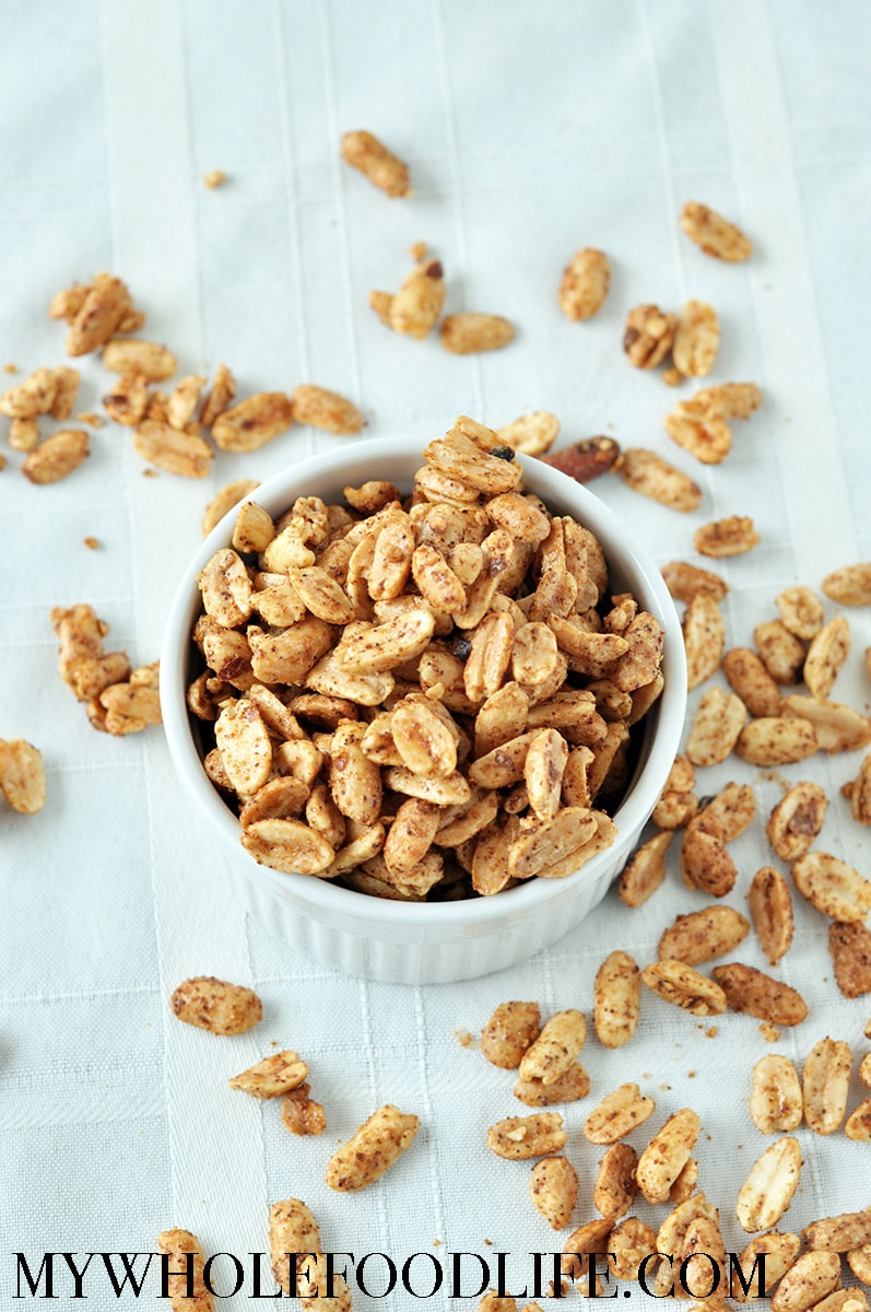 sweet and spicy roasted peanuts