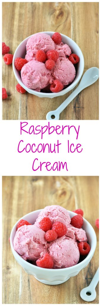 Raspberry Coconut Ice Cream
