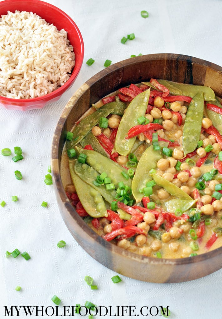 green curry with chickpeas