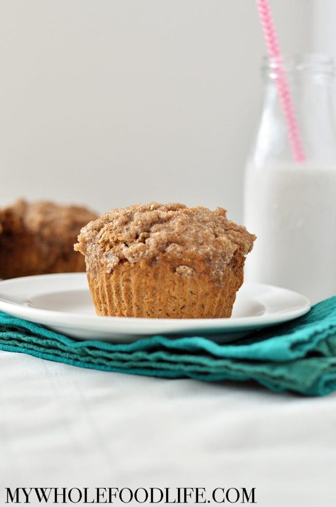 sweet potato coffee cake muffins