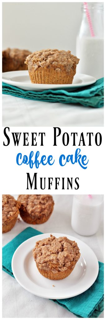 sweet potato coffee cake muffins