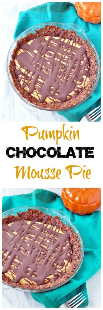 pumpkin chocolate mousse pie