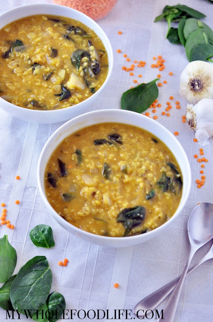 Red Lentil and Spinach Soup