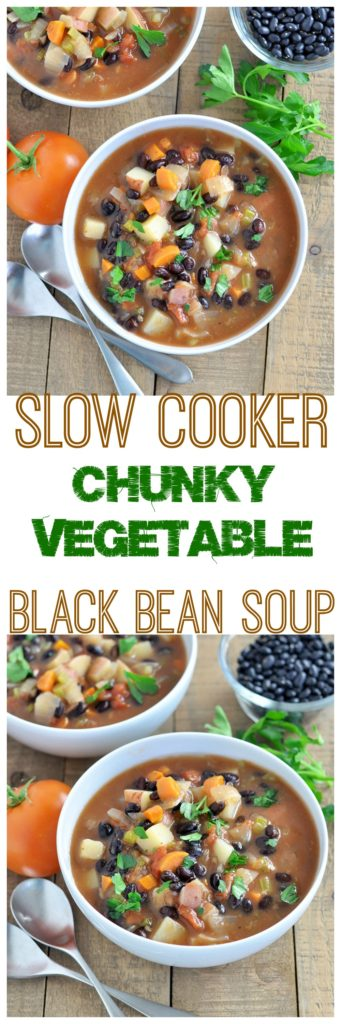 chunky vegetable black bean soup