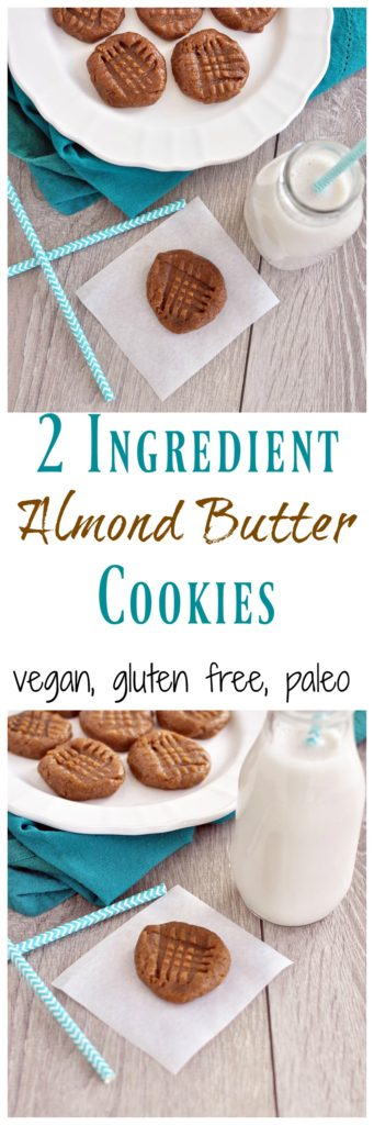 2 Ingredient Almond Butter Cookies