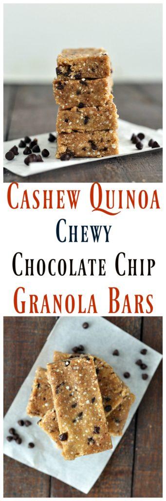 Cashew Quinoa Granola Bars