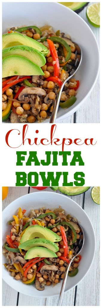chickpea fajita bowls