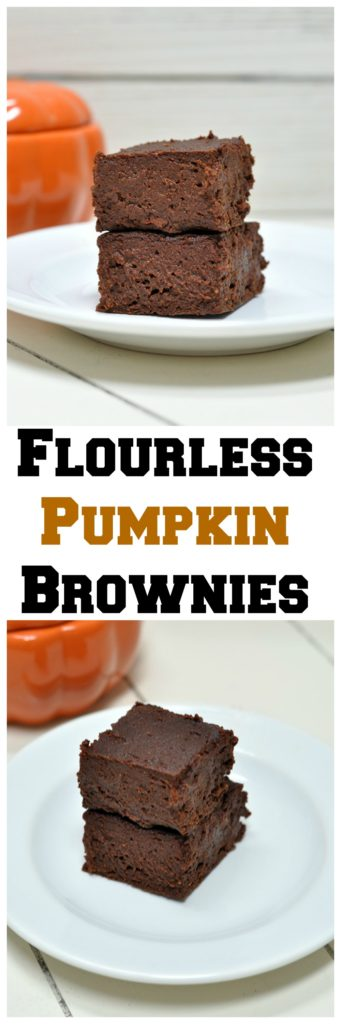 Flourless Pumpkin Brownies
