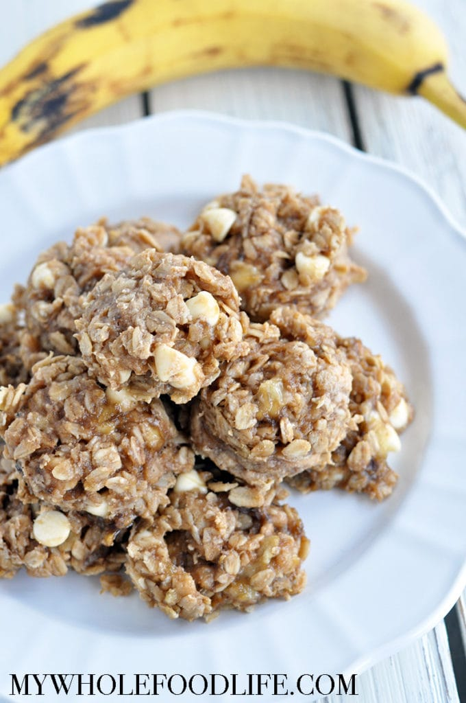 banana white chocolate breakfast cookies