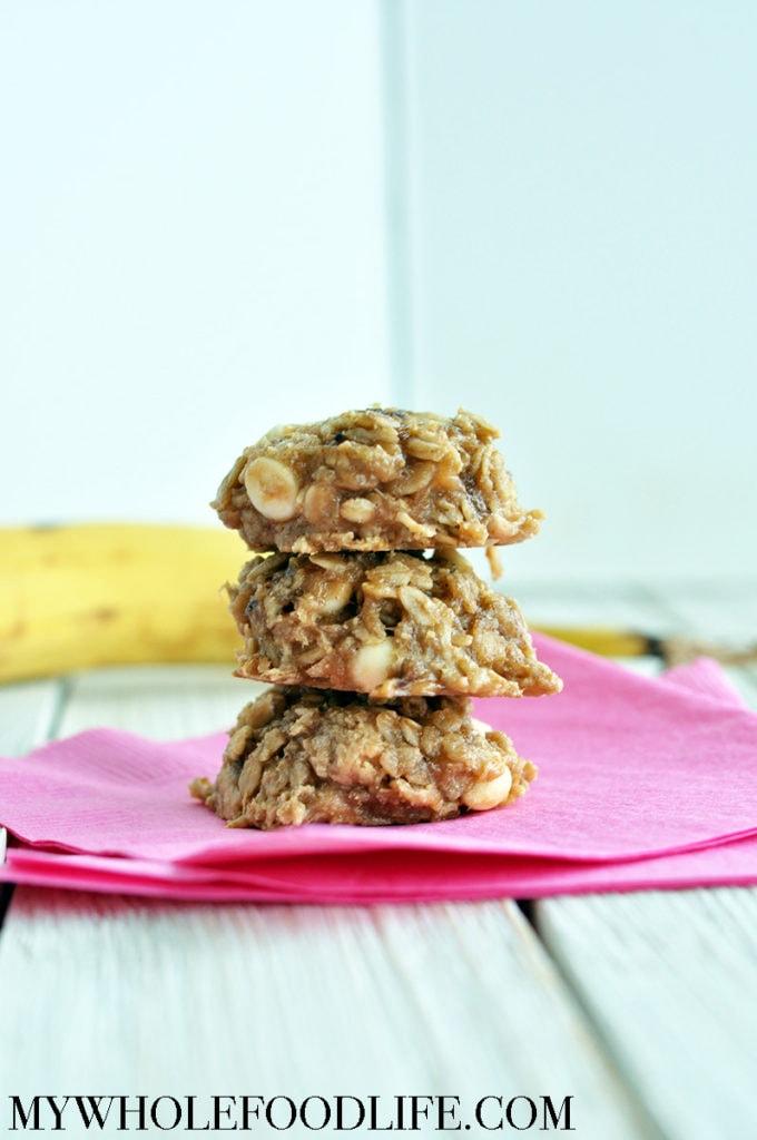 banana white chocolate breakfast cookies