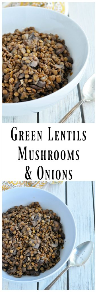 Green Lentils Mushrooms Onions