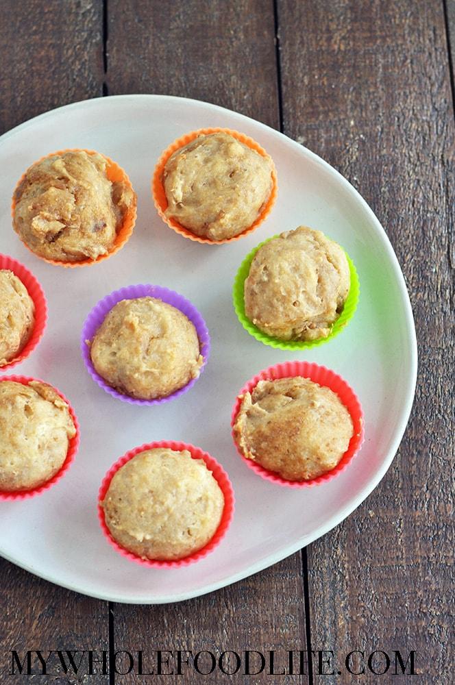 Cashew Caramel Mini Muffins