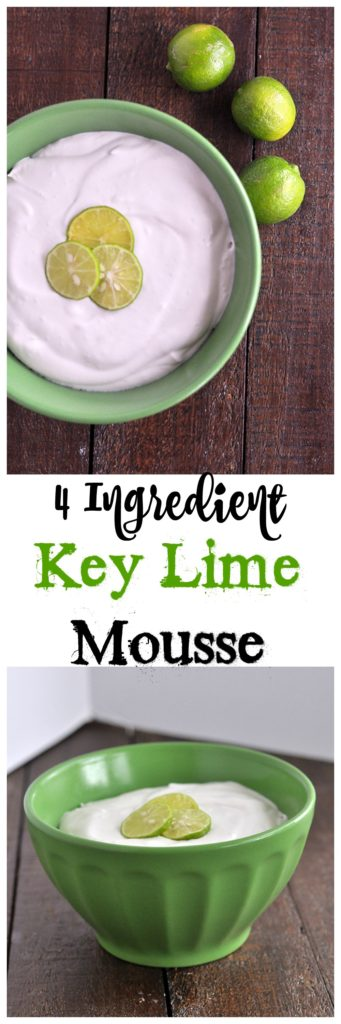 4 Ingredient Key Lime Mousse