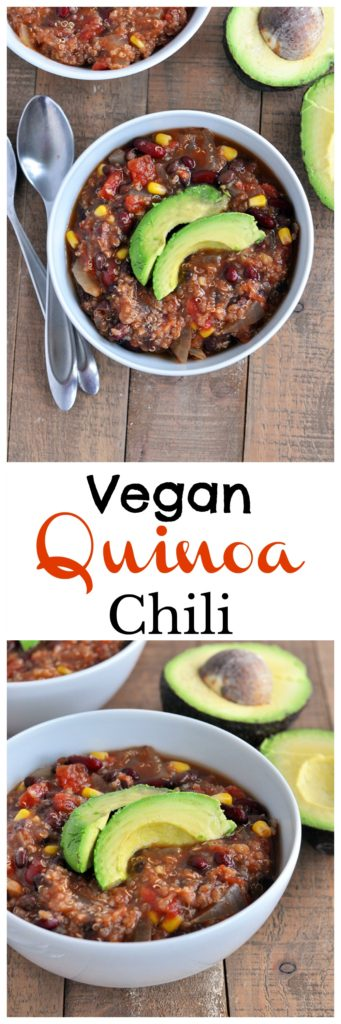 Vegan Slow Cooker Quinoa Chili